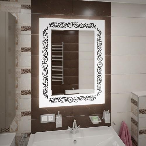Зеркало с подсветкой в ванной Персона-Уайт