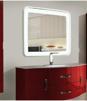 Зеркало для ванной с LED подсветкой Мила 120х90 см(1200х900 мм)